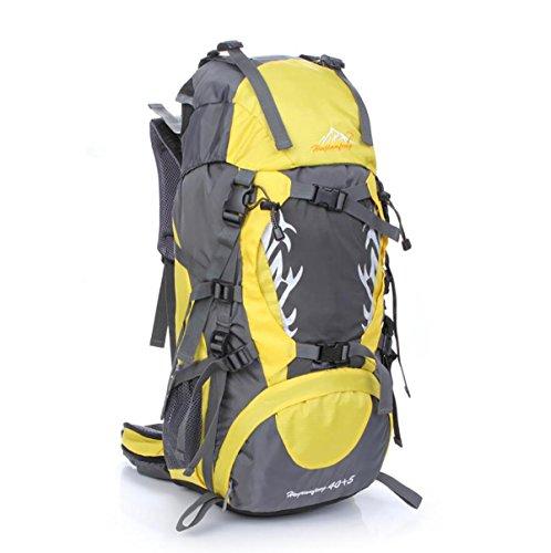 40L Outdoor-Freizeit und Camping-Rucksack Bergsteigen Taschen wasserdicht Reiten Profi-Paket Orange