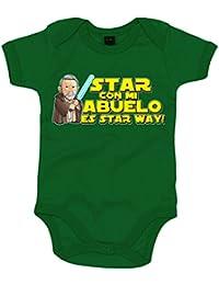 Body bebé Star Wars Star con mi abuelo es Star Way Obi Wan Kenobi