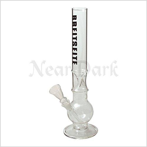 Near Dark Breitseite Glasbong Ice H 420mm Durchmesser 50mm NS 19 , Raucherbedarf, Rauchzubehör, Pfeife, Bong, Blubber, Glaspfeife, Wasserpfeife