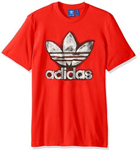 Adidas Originals Herren Originals Trefoil Tee Rot/Grau (Core Red/Grey Metallic)
