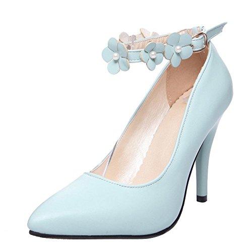 MissSaSa Donna Sottile col Tacco Alto Dolce e Elegante Azzurro