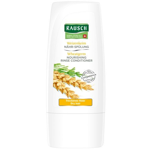 Rausch Weizenkeim Nähr-Spülung (umhüllt das Haar und versorgt es mit essentiellen Nährstoffen, ohne Silikone und Parabene - Vegan), 4er Pack (4 x 30 ml)