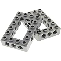 2 x Lego Technic Bau Rahmen Stein creme weiss 6x8 Lochstein 4261717 40345 32532