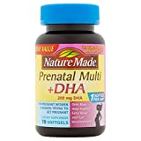Nature Made Prenatal Multivitamin & DHA Dietary Supplement 200mg 70 Softgels