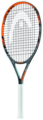 Head Radical Jr - Raqueta de tenis, color negro/ naranja, talla 25""