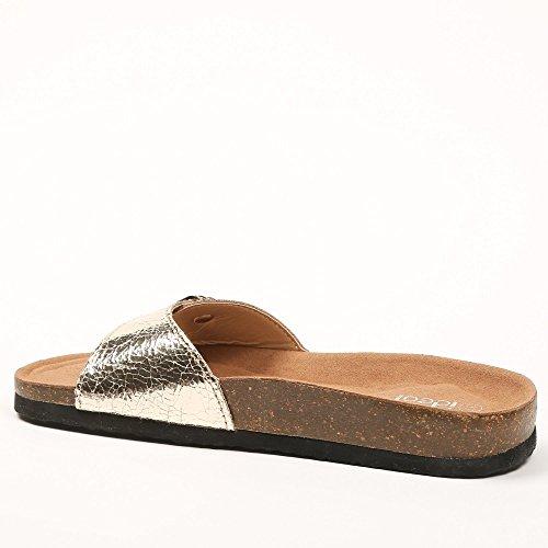 Ideal Shoes ,  Sandali donna Oro (Oro)