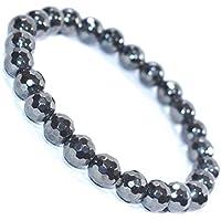 Bracelet Hematite Natural Diamond Cut 8 MM Birthstone Handmade Healing Power Crystal Beads preisvergleich bei billige-tabletten.eu