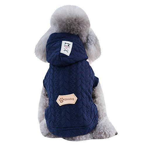 (Xbeast Haustier-Kapuzenpullover für Kleine Hunde, Fleece, warm, mit Kapuze)