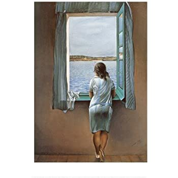 salvador dali frau am fenster kunstdruck poster 60 x 80 cm. Black Bedroom Furniture Sets. Home Design Ideas