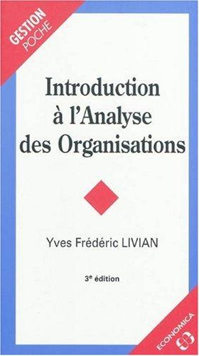 Introduction à l'analyse des organisations