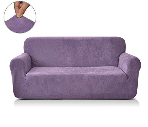 CHUN YI 1-Stück verdickte Stretchhusse für Sofa, mehrere Farben (2-Sitzer, Violett)