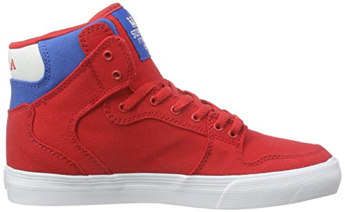 Supra KIDS VAIDER Unisex-Kinder Hohe Sneakers Rot (RED / ROYAL - WHITE RDR)