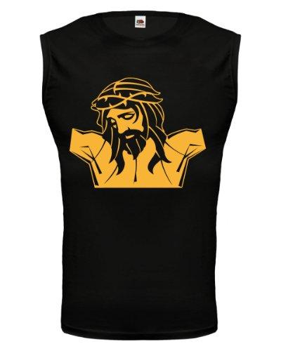 buXsbaum® Tank Top Jesus-Christ-Face Black-Sunflower