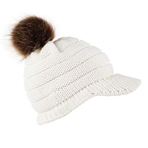Mitlfuny Black Friay DE Cyber Monday DE,Damenmode halten warme Wintermützen gestrickte Wolle säumen Ski Skull Slouchy Hut