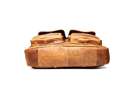 Marwar , Herren Schultertasche KMW0734-chocolate KMW0734-brown