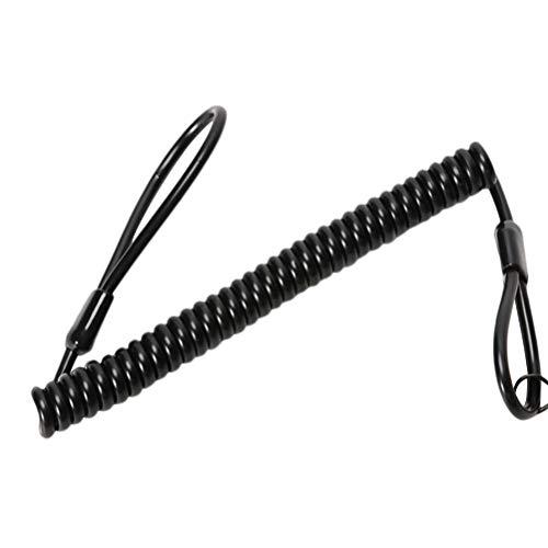al Keyring Rope Strap Taktische Schlüsselbund Spring Retractable Key Holder (schwarz) ()
