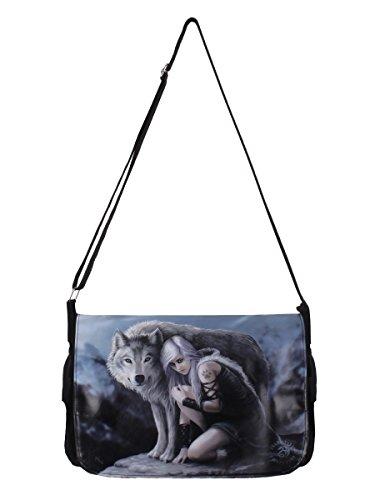 Anne-tasche (Anne Stokes Messenger Bag Protector schwarz. Offiziell lizenziert)