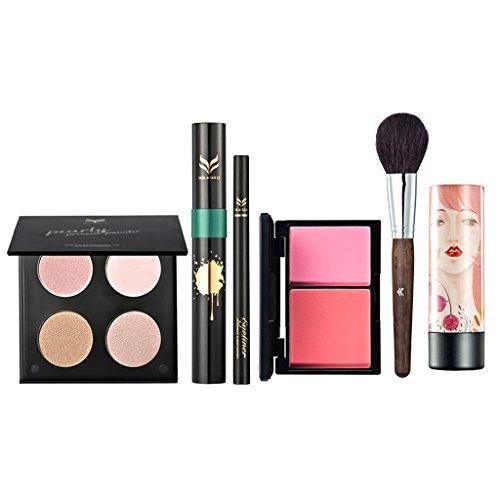 MagiDeal Kit Outils Cosmétique Palette Correcteur Cache Cernes Mascara à Cils Curling Stylo Eyeliner / Sourcils Blush Pinceau de Maquillage Rouge à Lèvres