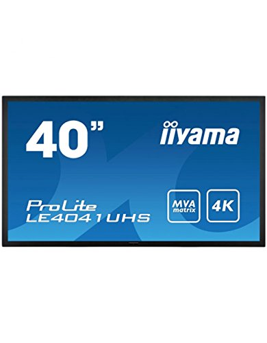 Iiyama ProLite LE4041UHS 40-Inch 4K Monitor with High Contrast, MVA Panel and Robust Metal Bezel - Black