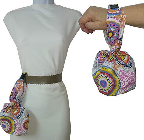 Tasche Damen und Herren, Handtasche, oder hängen am Gürtel. MANDALA. Für die mobile, Schlüssel, Geldbörse, Taschentücher, etc. ideal zum Wandern, Tanzen. Einzigartig und exklusiv. -