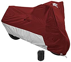 Nelson-Rigg Deluxe Motorcycle Cover, Weather Protection, UV, Air Vents, Heat Shield, Windshield Liner, Compression Bag, Grommets, Large fits Sport Bikes and Small/Medium Cruisers