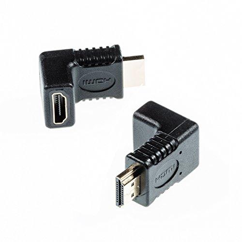 Poppstar HDMI Winkeladapter 90 Grad HDMI Stecker zu HDMI Buchse, 4k Ultra HD 2160p - 90-grad-vga-kabel