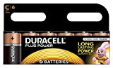 Duracell Plus Power Pack de 6 Piles Alcaline Taille C Multicolore