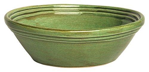 Colì Maioliche e Terrecotte dal 1650 Fieno Saladier, terre cuite, vert, 32 x 32 x 12 cm