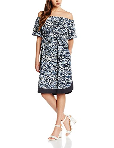 Great Plains Damen Kleid Sea Isle Off Shoulder Dress Blau (Ebony Navy Combo)