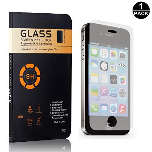 Bear Village® iPhone 4 / 4S Displayschutzfolie, 9H Härtegrad Displayschutz, Keine Luftblasen, 3D Touch Schutzfilm aus Gehärtetem Glas für Apple iPhone 4 / 4S - 1 Stück