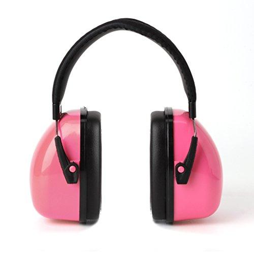 Preisvergleich Produktbild ECMQS Gehörschutz für Kinder & Jugendliche / 30dB NRR / 35dB SNR Kompakt,  Komfortabel und Faltbarer Gehörschützer / Verstellbarer Ohrschützer (Rosa)