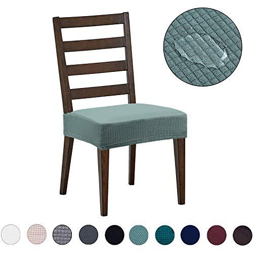 DEZENE Fundas para sillas de Comedor (Paquete de 2): Repelente al Agua,...