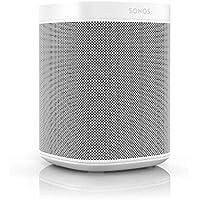 Sonos One Smart Speaker, weiß – Intelligenter WLAN Lautsprecher mit Alexa Sprachsteuerung, Google Assistant & AirPlay – Multiroom Speaker für unbegrenztes Musikstreaming, mit Sprachsteuerung