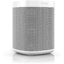 Sonos One Enceinte sans-fil multiroom wifi avec le service vocal Amazon Alexa intégré – Blanc