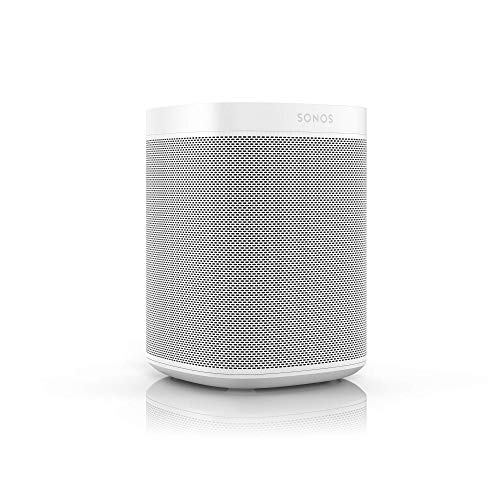 Sonos One Generazione 2 Smart Speaker Altoparlante Wi-Fi Intelligente, Controllo Vocale Amazon Alexa, AirPlay e Google Assistant, Bianco