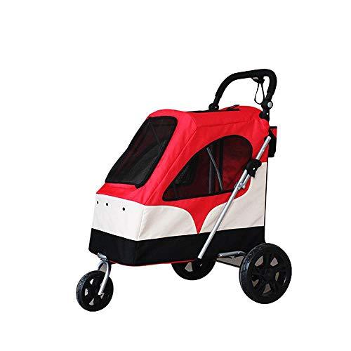 Aoligei Luxus Hundewagen & Haustier Buggy Großen Dog Cart Falten für den einfachen Transport