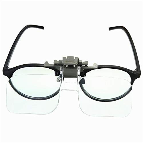 DyNamic Hd Lens Precise Clip On Clear Folding Magnifying Glasses Hands Free Reading Eyegbrille Schmuck Gutachten Watch Repair Tool