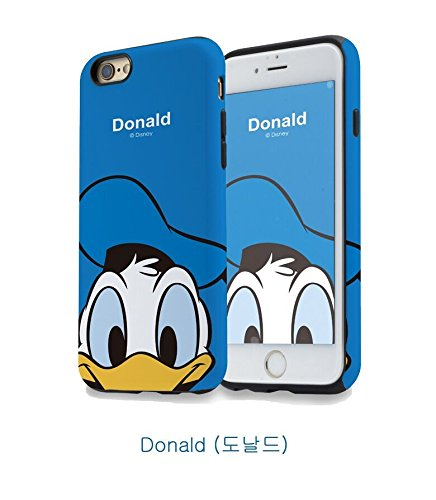 iPhone cases Disney Cartoon character MICKEY & MINNIE FAMILY Soft TPU Flexible Protective Case Cover for Apple iPhone 6 PLUS, CHIP DONALD
