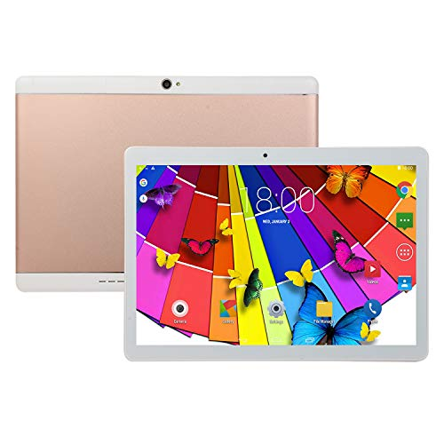 TEQIN 10 Inch Tablet Android 8.0 6+64GB Tablet PC with TF Card Slot and Dual Camera Rose Gold UK Plug