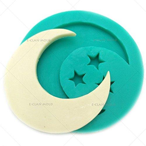 Bakeware Mond und Sterne Form für Kuchen dekorieren Fondant Schokolade Form f0625yl35