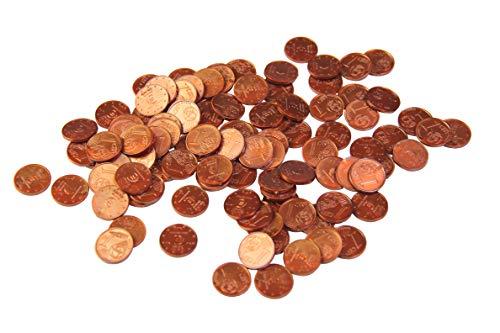 WISSNER aktiv lernen - Euro Spielgeld zum Rechnen 100 x 1 Cent Münzen -