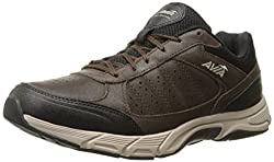 AVIA Mens Venture Walking Shoe, Dark Chestnut/Black/Stone Taupe, 11.5 M US