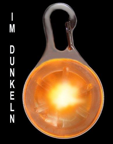 Pendiente luminoso del LED incl. Bateria para perros, gatos, mascotas | LED pendiente de perros en naranja NUEVO de la marca PRECORN