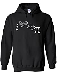 Be Rational Get Real Maths Science Novelty White Femme Homme Men Women Unisex Sweat à Capuche Hooded Sweatshirt Hoodie
