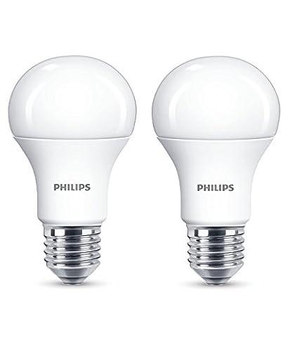 Philips 8718696577035 EEK A+ LED Lampe, 13W (ersetzt 100W), E27, Warmweiß (2700 Kelvin), 2-er Pack