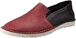 U.S. Polo Assn. Mens Maroon Leather Loafers and Moccasins - 6 UK/India (40 EU)