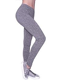 Damen Sport Leggings Lange Fitnesshose Jogginghose Leggins Yoga Hose Blickdicht Laufhose