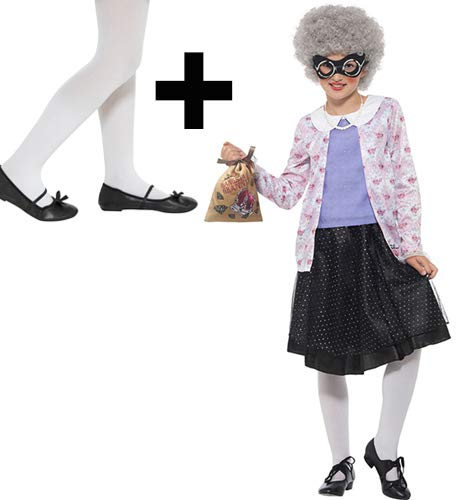 MFD Mädchen Kostüm mit Strumpfhosen David Wallis Gangsta Granny