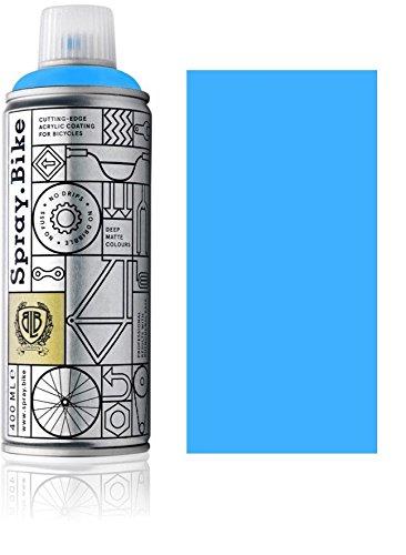 Fahrrad Lackspray in NEON Farben - KEINE GRUNDIERUNG notwendig - Acryllack / Lack Spray in 400 ml Spraydose, Matt- und Klarlack Optik möglich (Matt, Neon Blau)