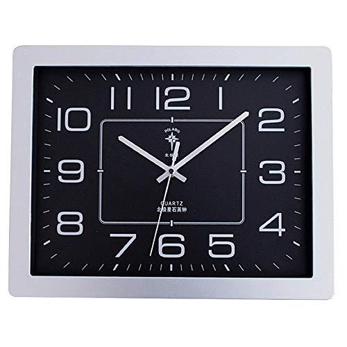Reloj de pared Plaza muda sala de estar reloj de pared ambiente de moda simple relojes de oficina personalidad moderna IKEA viento electrónico reloj hogar ambiente mudo pared gráficos ( Color : D )